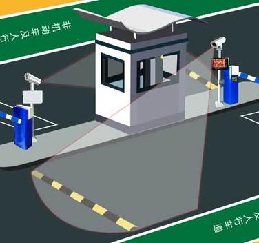 车牌识别停车管理系统 (无线版)